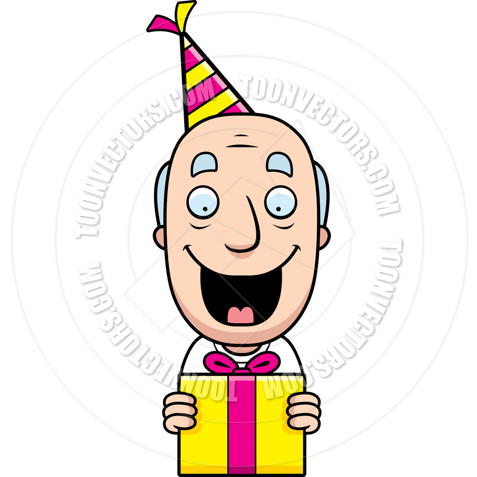 940x940 Cartoon Grandpa Birthday Present By Cory Thoman Toon Vectors Eps