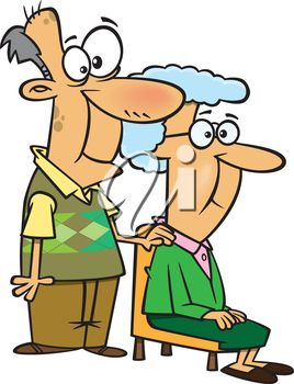 Cartoon Grandparents Clipart