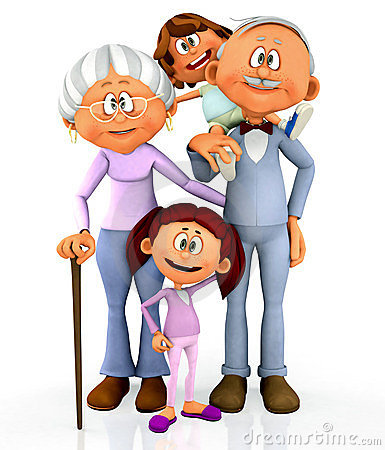 385x450 Free Clipart Of Grandparents