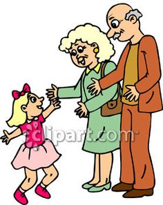 236x297 Royalty Free Clipart Image Of A Grandfather And Granddaughter