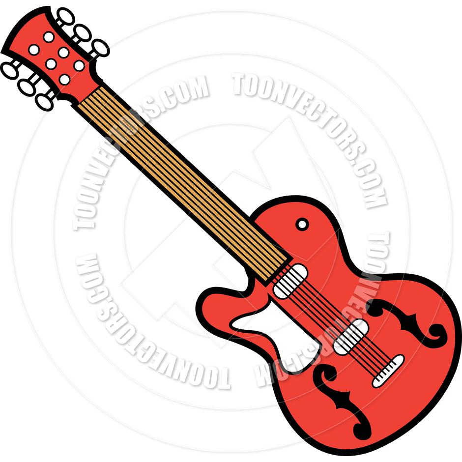 940x940 Cartoon Guitar Vector Illustration By Clip Art Guy Toon Vectors