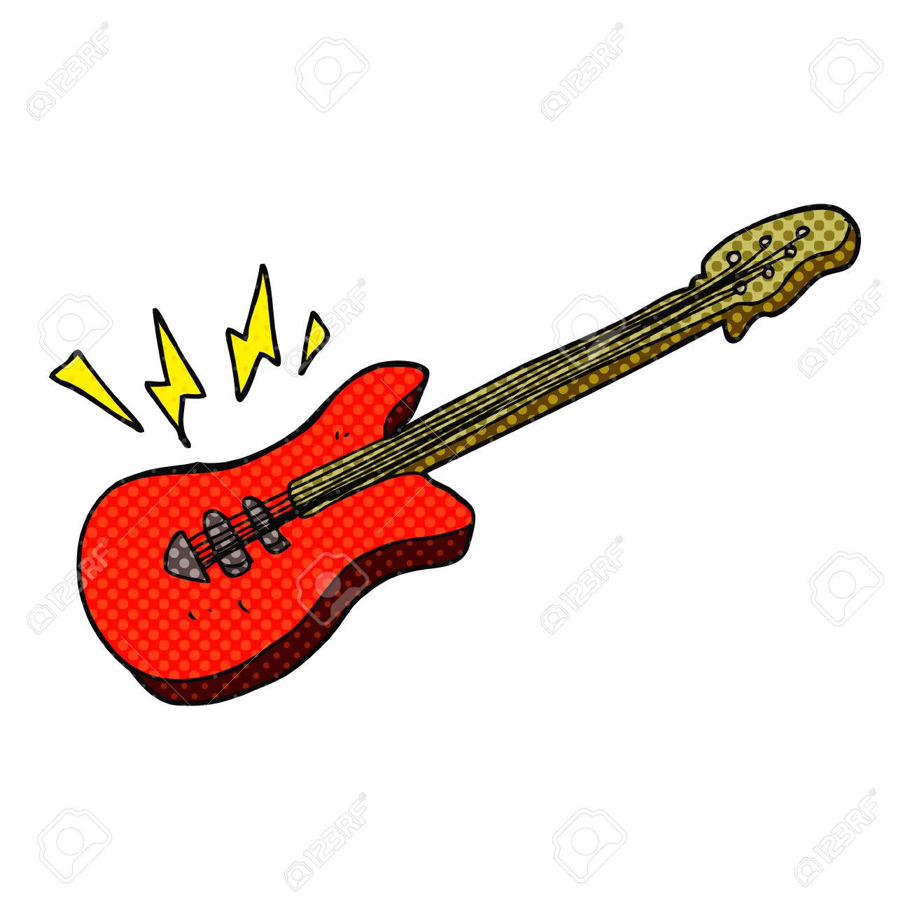 1300x1300 Drawn Cartoon Electric Guitar