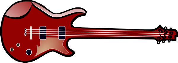 600x212 Electric Guitar Clip Art Free Vector 4vector
