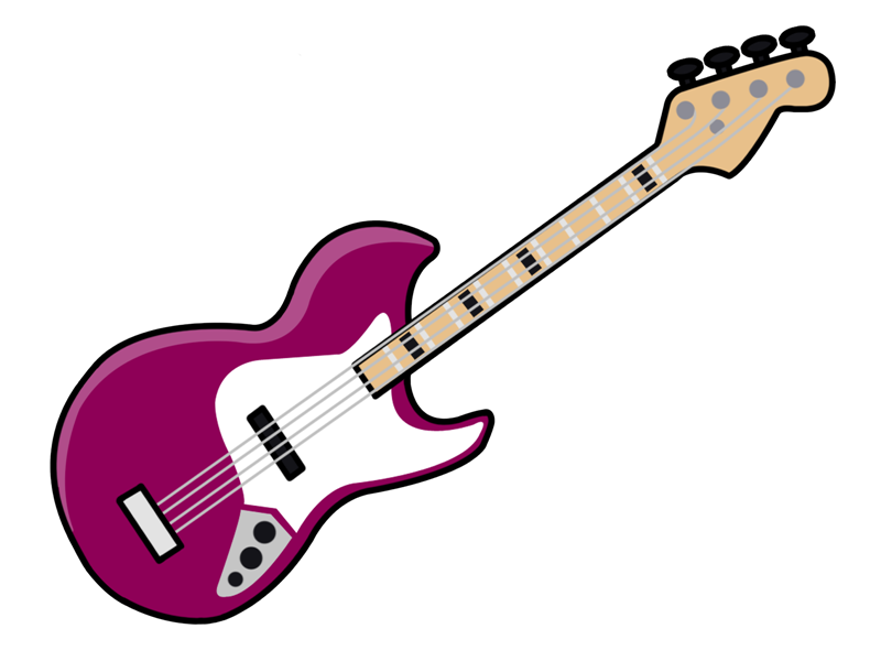 800x600 Free Cartoon Electric Guitar Clip Art