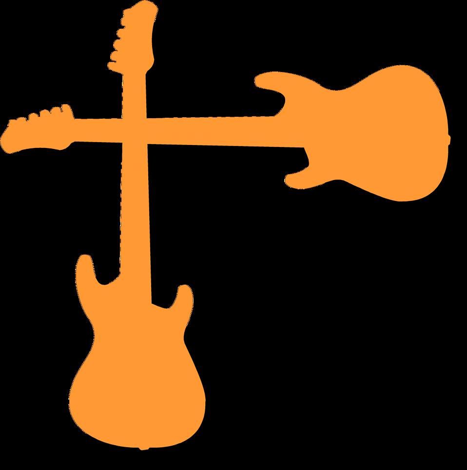 958x966 Guitar Clipart Border