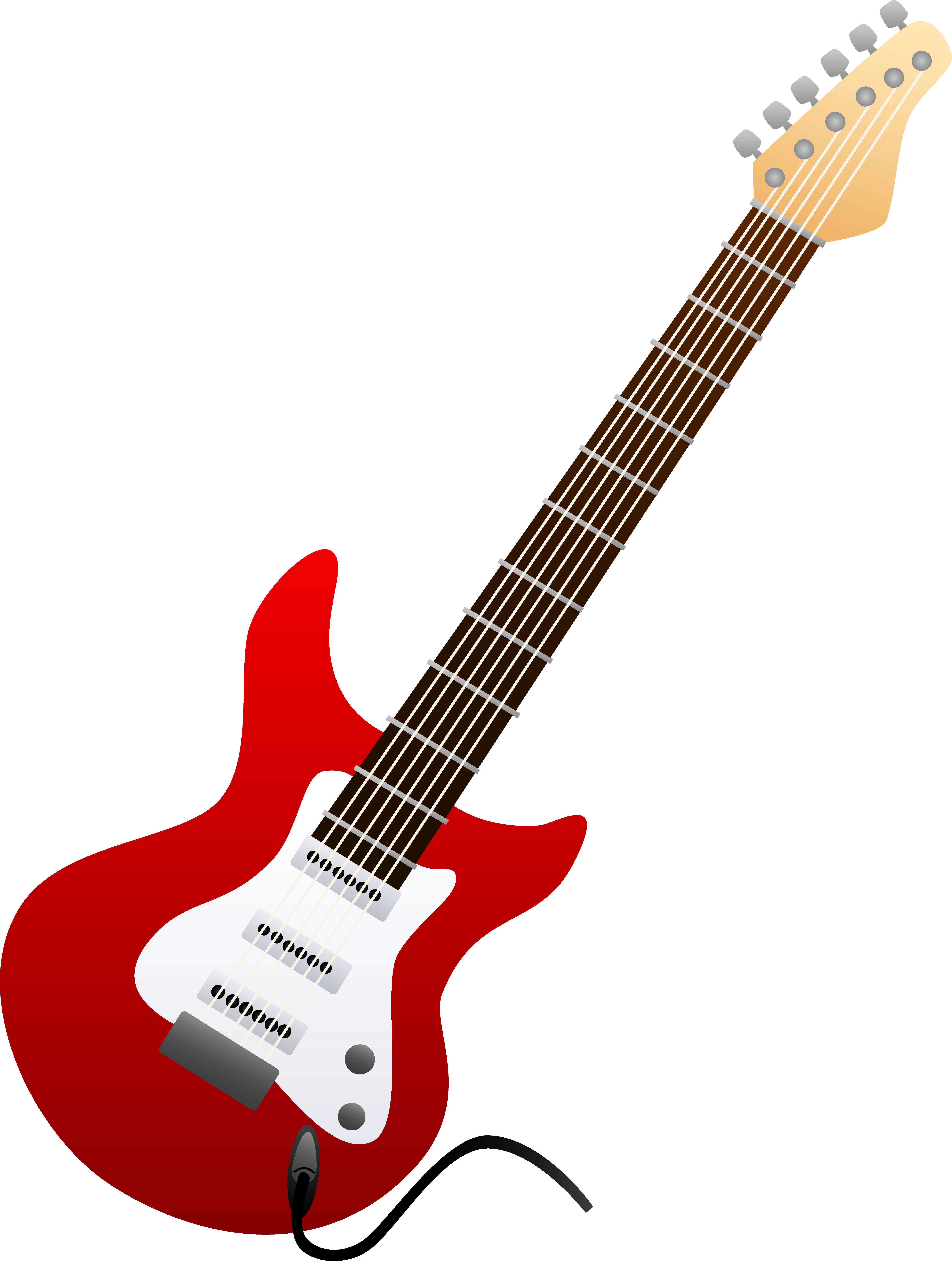 5971x7908 Red Electric Guitar Design