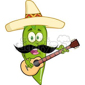 300x300 Royalty Free 6800 Royalty Free Clip Art Green Chili Pepper Cartoon