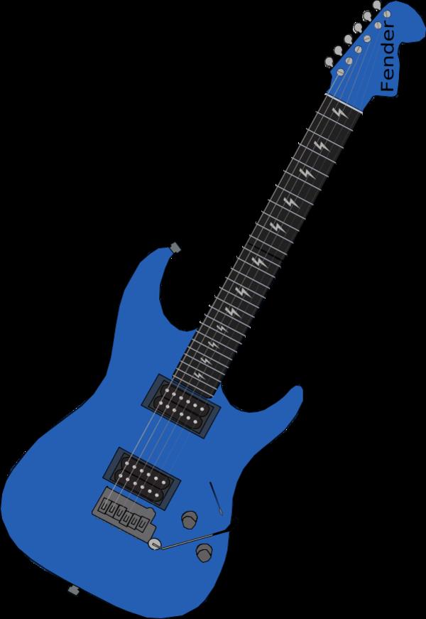 600x871 Blue Guitar Clipart