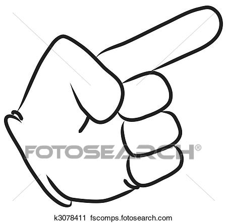 450x443 Clipart Of Cartoon Hand Pointing K3078411
