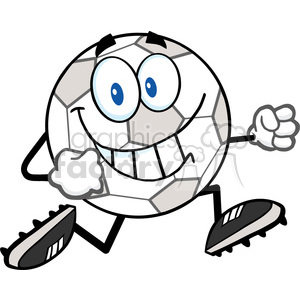 300x300 Royalty Free Royalty Free Rf Clipart Illustration Smiling Soccer
