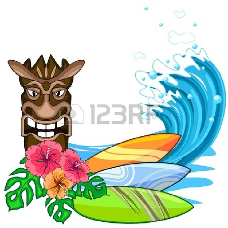 Cartoon Hawaiian Flower Clipart