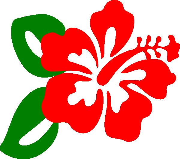 600x529 Red Hibiscus Clip Art