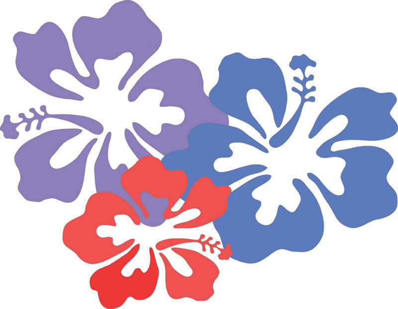 Cartoon Hawaiian Flower Clipart | Free download best Cartoon