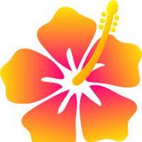 200x200 Cartoon Hawaiian Flowers