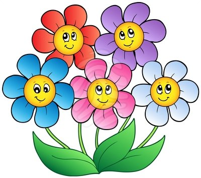 400x353 Cartoon Flowers Clipart