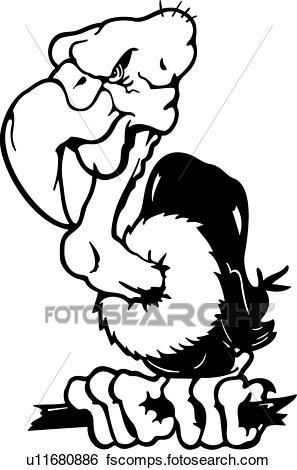 297x470 Clip Art Of , Animal, Bird, Cartoons, Mascot, Scavenger, Vulture