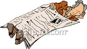 300x171 Man Sleeping Under A Newspaper