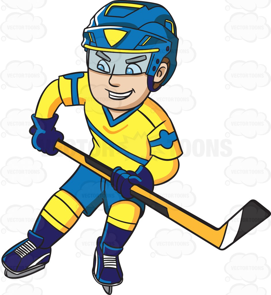 Cartoon Hockey Stick Clipart