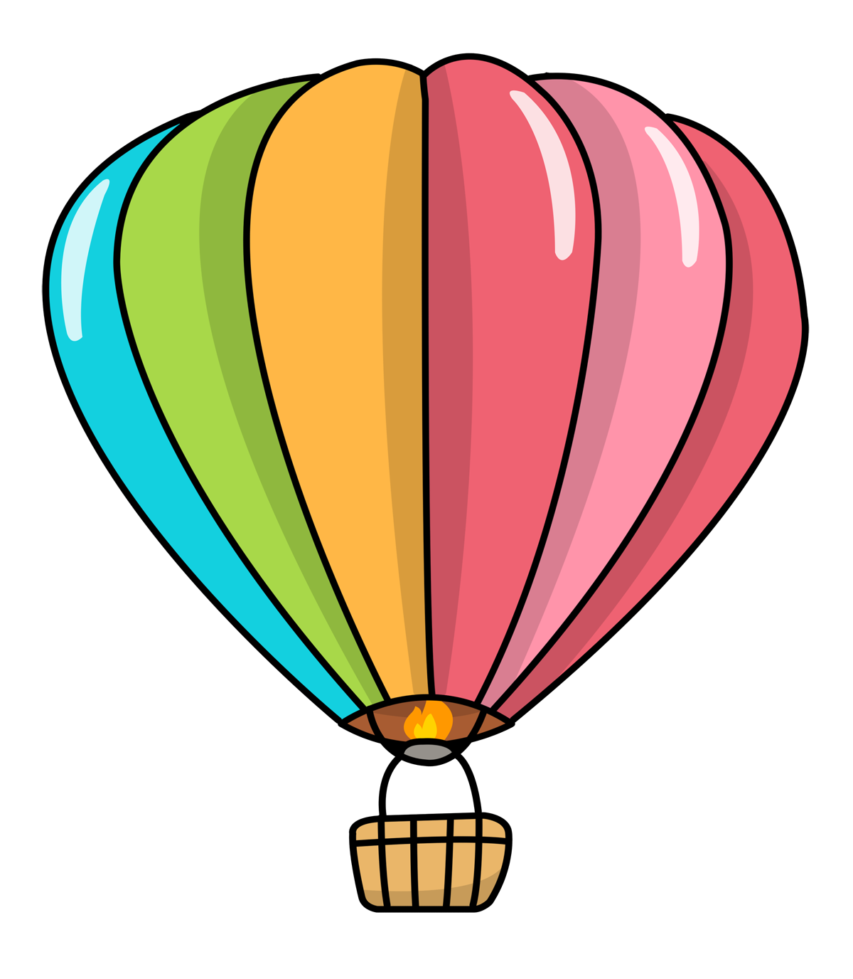1200x1376 Free Cartoon Hot Air Balloon Clip Art