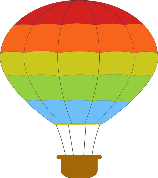 528x595 Hot Air Balloon Clip Art