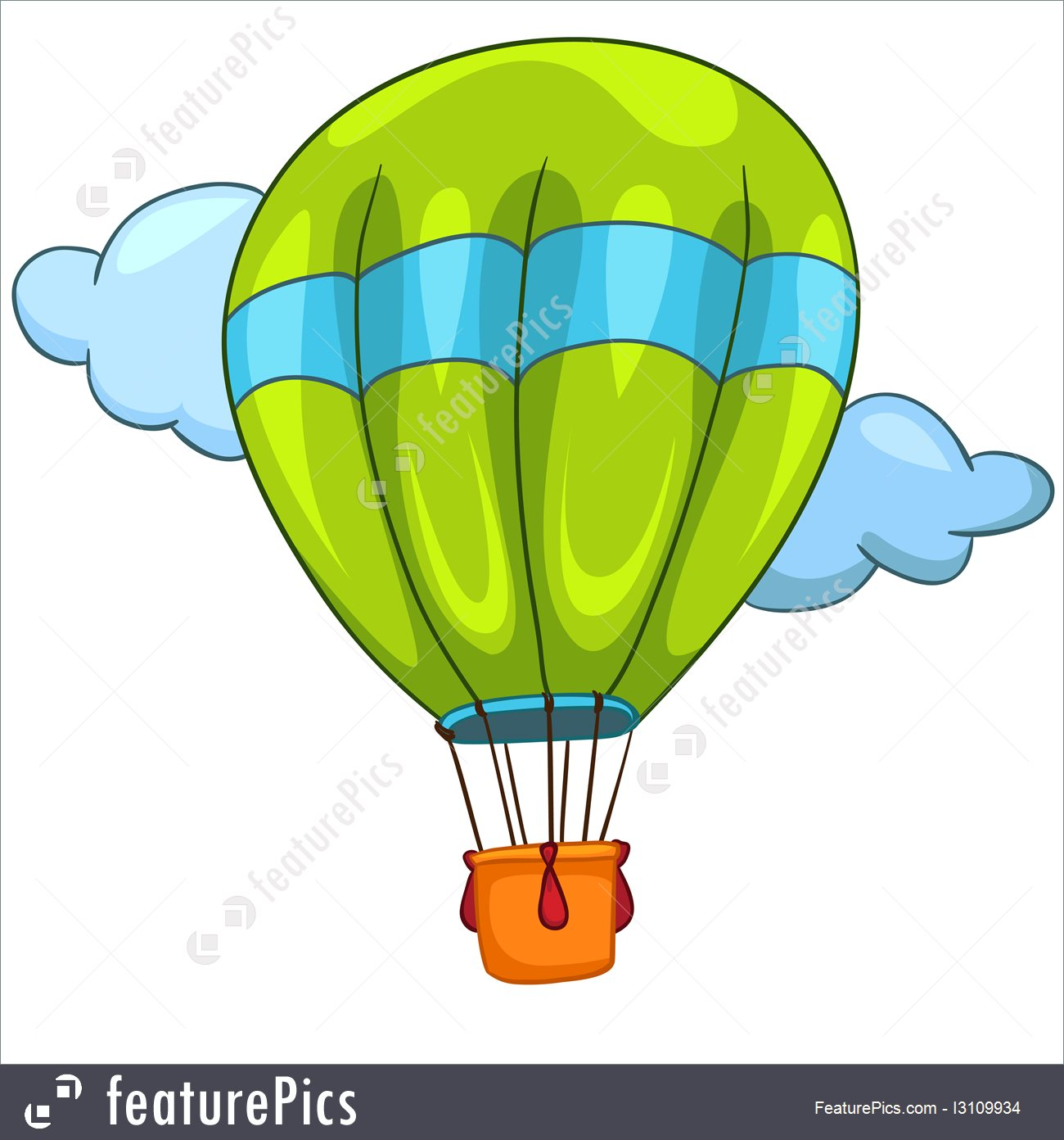 1300x1392 Hot Air Balloon Illustration