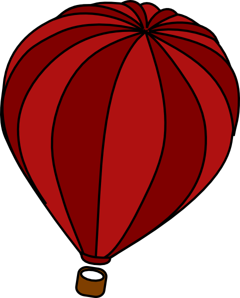 480x597 Hot Air Balloon Red Clip Art