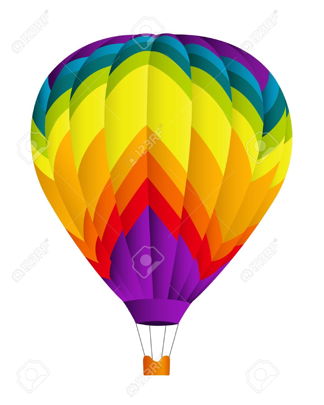 1040x1300 Hot Air Balloon Vector Illustration On White Background Royalty