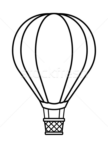 450x600 Hot Air Balloon Cartoon To Crayon Vector Illustration Adrian
