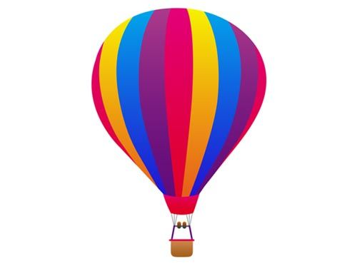 500x373 Hot Air Balloon Clipart
