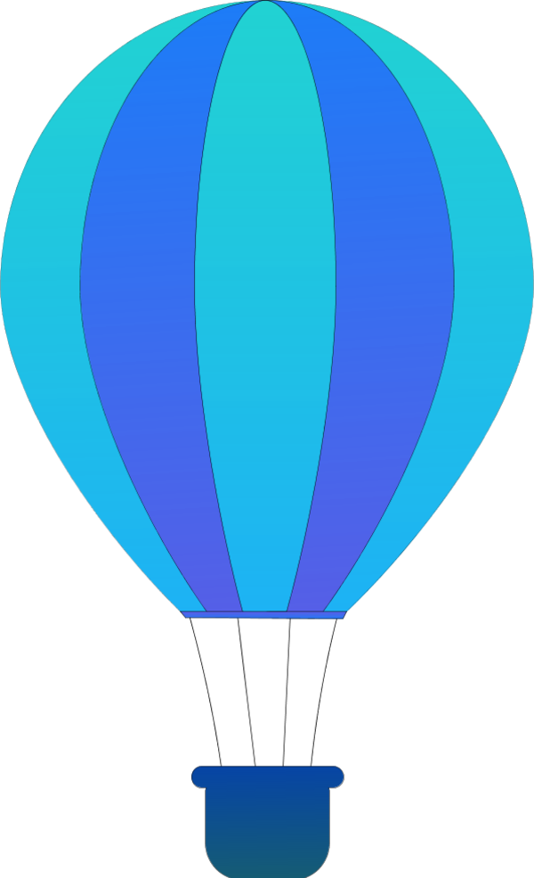 600x985 Blue Clipart Hot Air Balloon