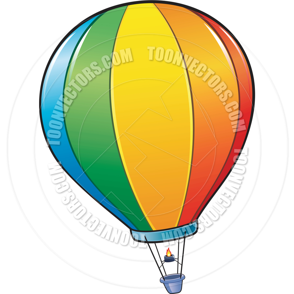 940x940 Cartoon Hot Air Balloon By Mumut Toon Vectors Eps