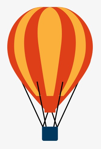 333x492 Flat Hot Air Balloon, Business Flat Element, Cartoon Flat Ornament