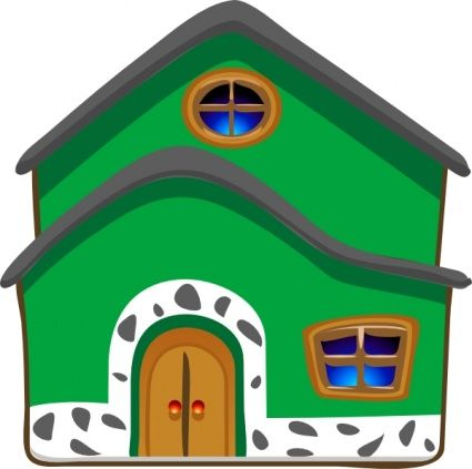 425x423 Clip Art Of Cartoon Houses Home And House Decor