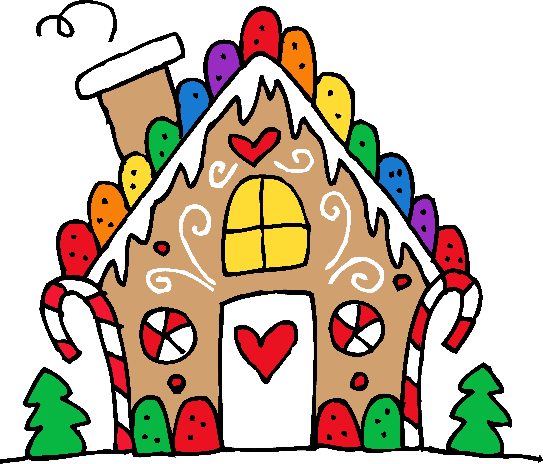 5677x4840 Cute Gingerbread House Clipart