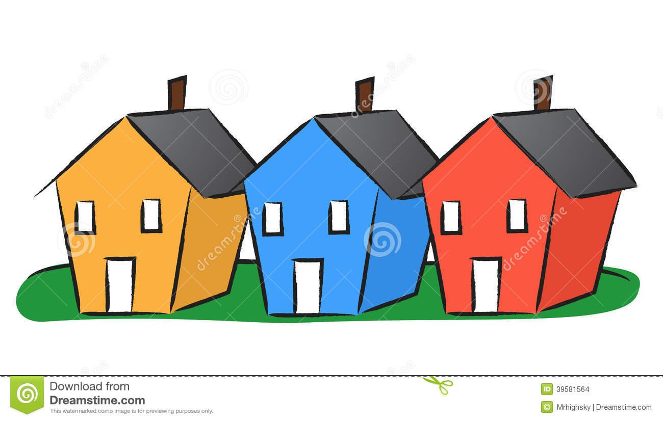 1300x826 House Clipart Row