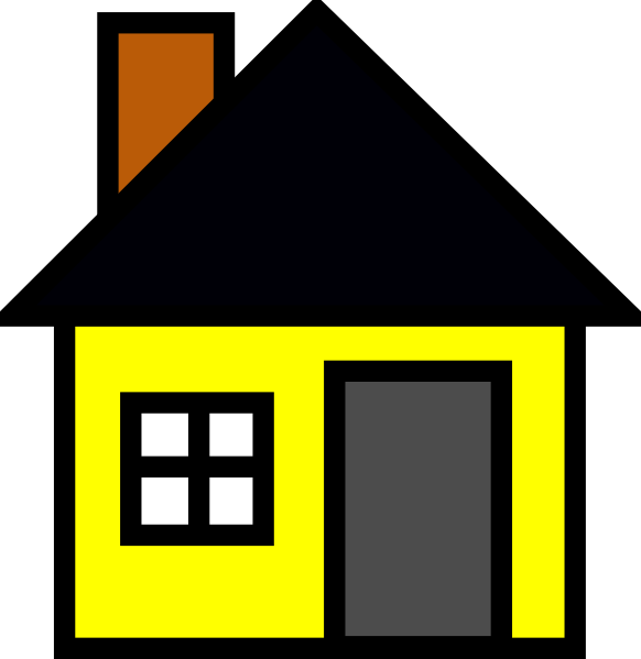 582x599 Yellow House 3 Clip Art
