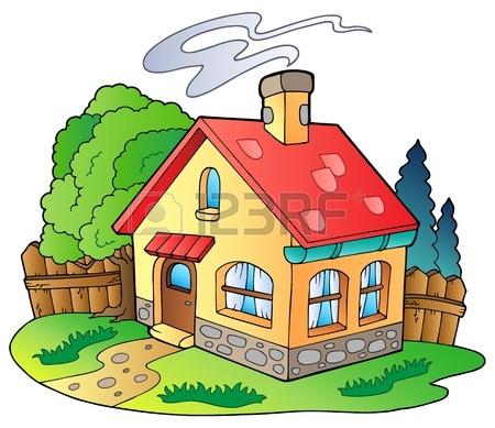 Cartoon Houses On Fire