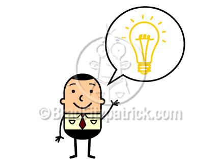 432x324 Cartoon Man With An Idea Lightbulb Clip Art Man With An Idea