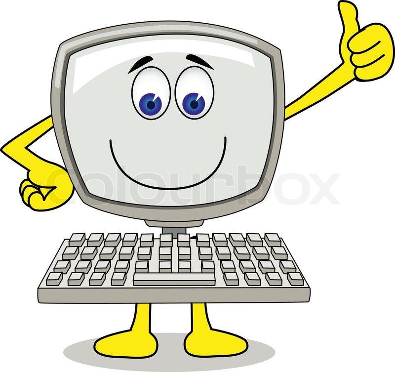 800x753 Computer Cartoon Stock Vector Colourbox
