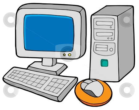 450x357 Computer Cartoon Clipart
