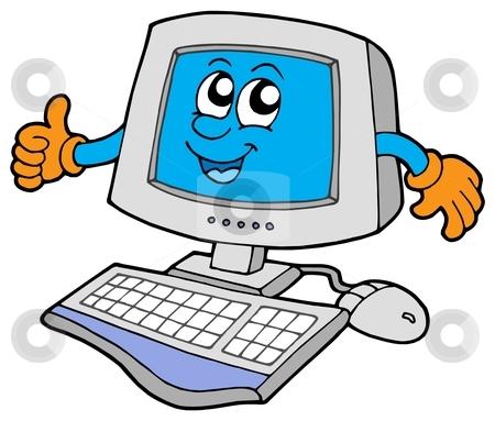 450x383 Computer Clipart Cartoon