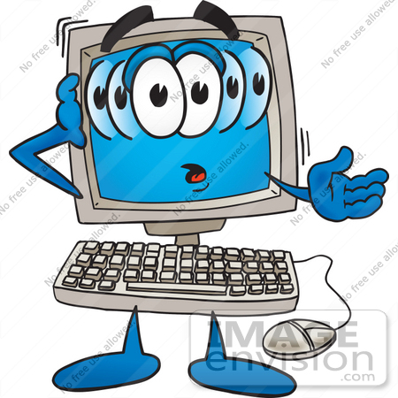 450x450 Royalty Free Cartoons Amp Stock Clipart Of Computers Page 1