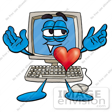 450x450 Royalty Free Cartoons Amp Stock Clipart Of Desktop Computers Page 2