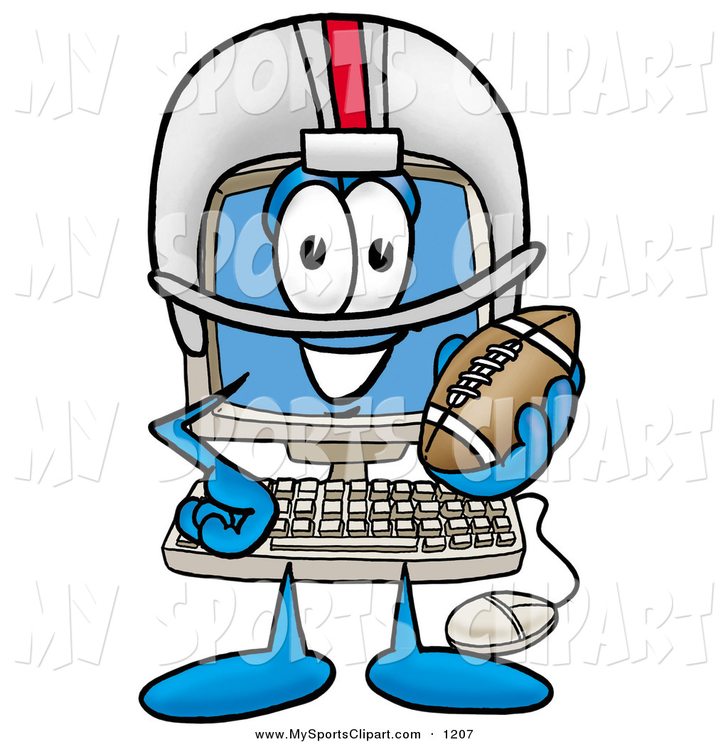 1024x1044 Sports Clip Art Of A Sporty And Happy Desktop Computer Mascot