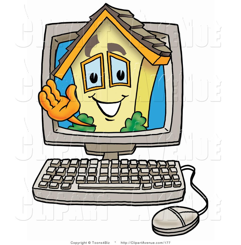 1024x1044 Avenue Clipart Of A Home Mascot Cartoon Character Waving