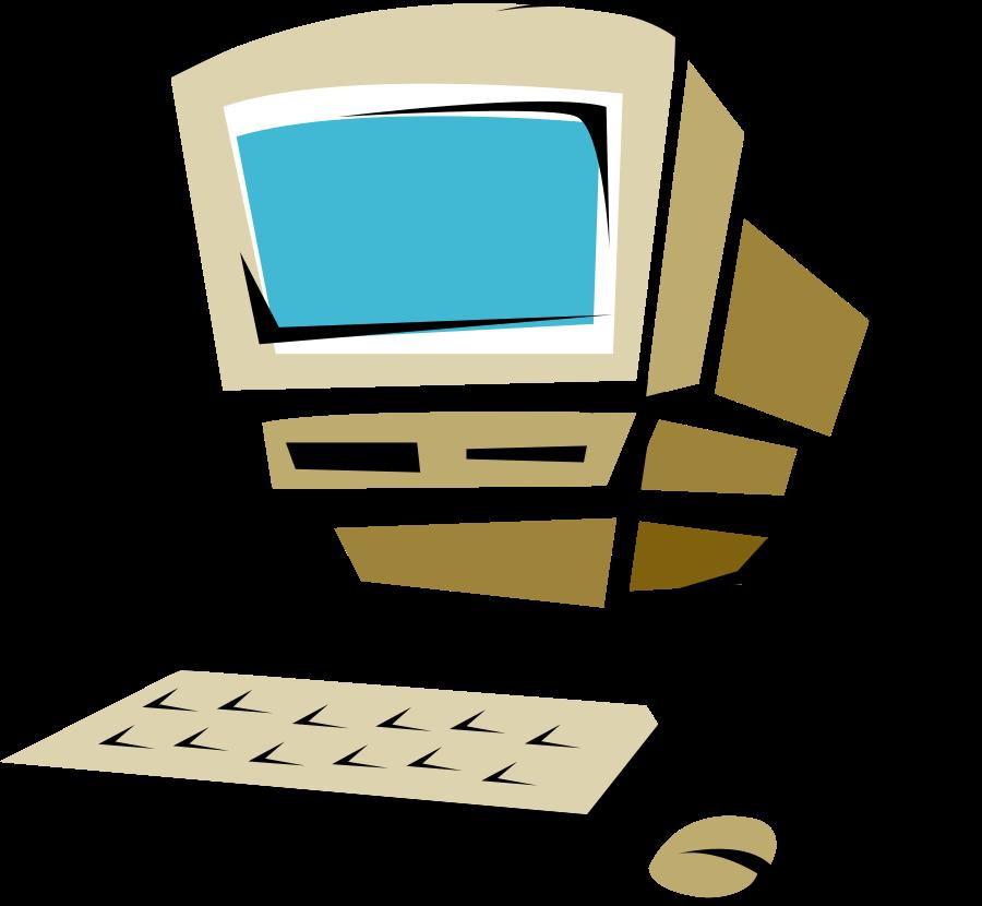 900x830 Cartoon Computer Clip Art Image