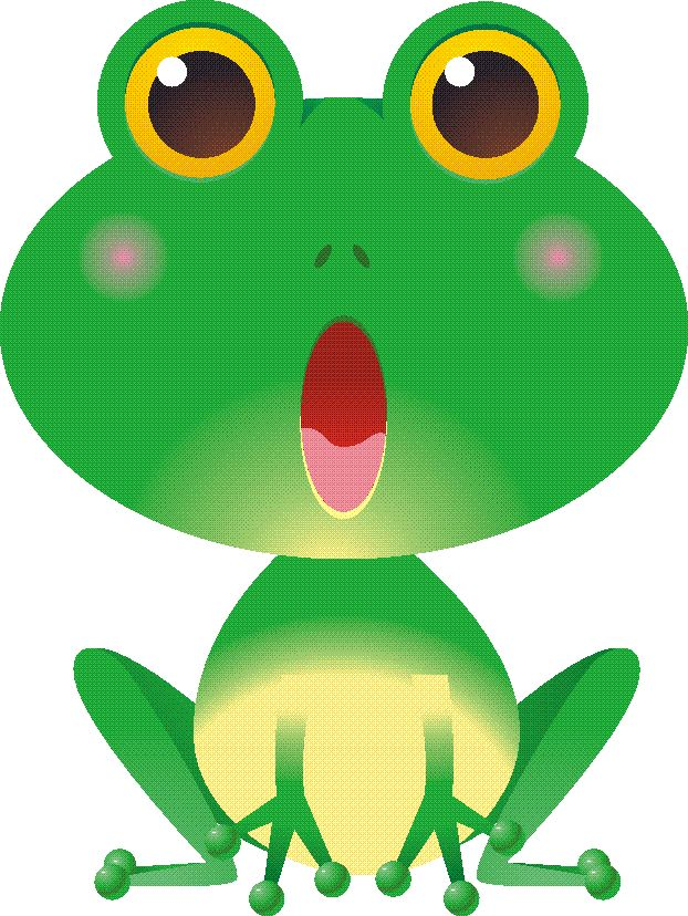 622x828 Cartoon Frogs Clipart