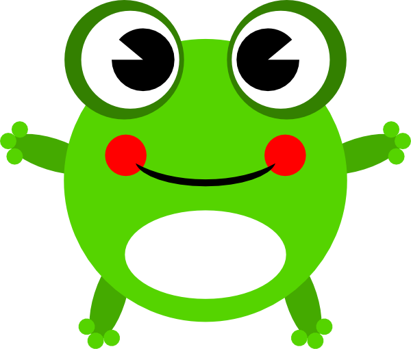600x510 Clipart Of Cartoon Frogs