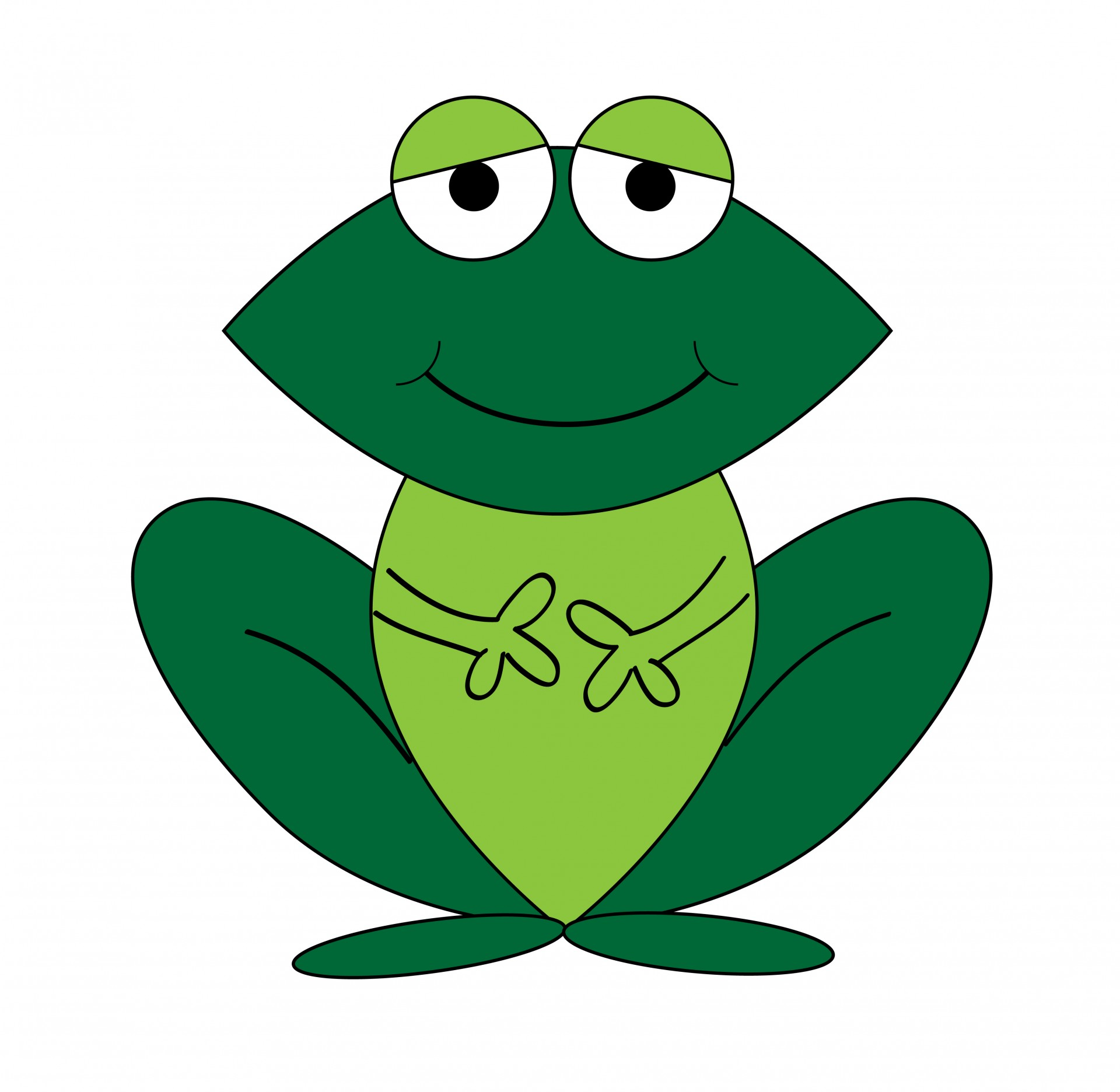 1920x1872 Frog Cartoon Clipart Free Stock Photo