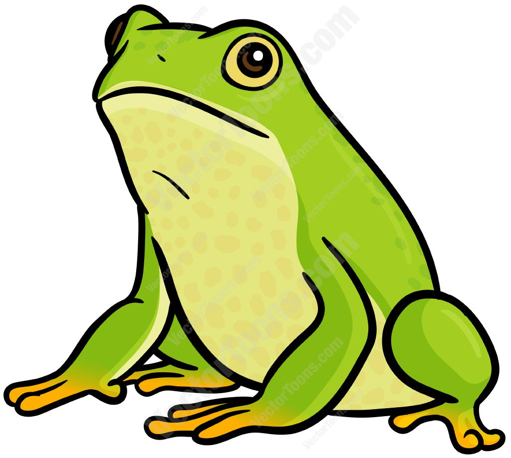 1024x919 Green Frog Cartoon Clipart